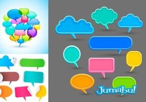 globos dialogo planos coloridos vectoriales1 - Globos de Diálogo Coloridos en Vectores