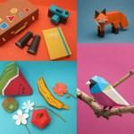guardabosques - Personajes y escenarios con papel plegado de mil colores