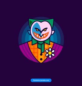 guazon joker vector - Estampa del Guasón o Joker en vectores
