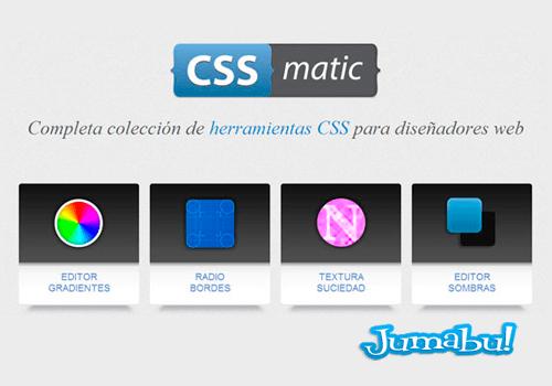 herramientas diseno web cssmatic - CSSmatic Herramienta para Diseñadores Web