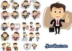 hombres de negocios facebook - Dibujos de Hombres de Negocios en Vectores
