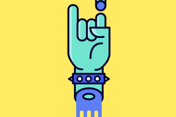 icono mano frankenstein vectores - Icono de Mano monstruosa en vectores