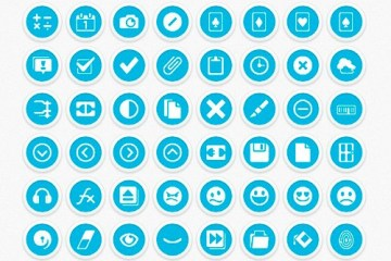 iconos celestes psd - Iconos Minimalistas para Photoshop