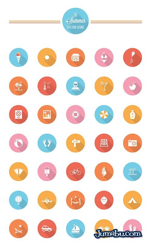 iconos-circulares-flat