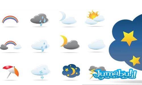 nubes-estrellas-sol-lluvia-nieve