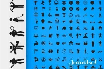 iconos deportivos vectores planos1 - Iconos Deportivos en Vectores
