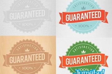 iconos garantia vectores - Iconos de Garantía en PSD