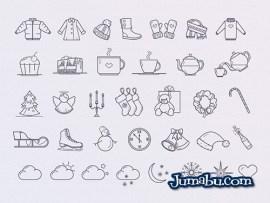 iconos invierno vectores gratis - Iconos de Invierno en Vectores para Descargar