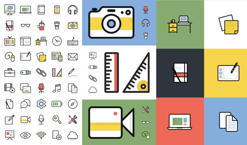 iconos-lineales-de-oficina