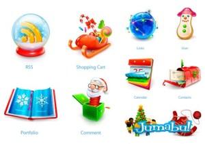 iconos navidad fondo transparente - Iconos Navideños con Fondo Transparente