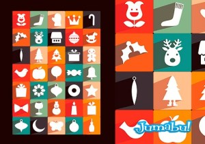 iconos plano navidad png - Iconos Navideños en PNG con Estilo Plano