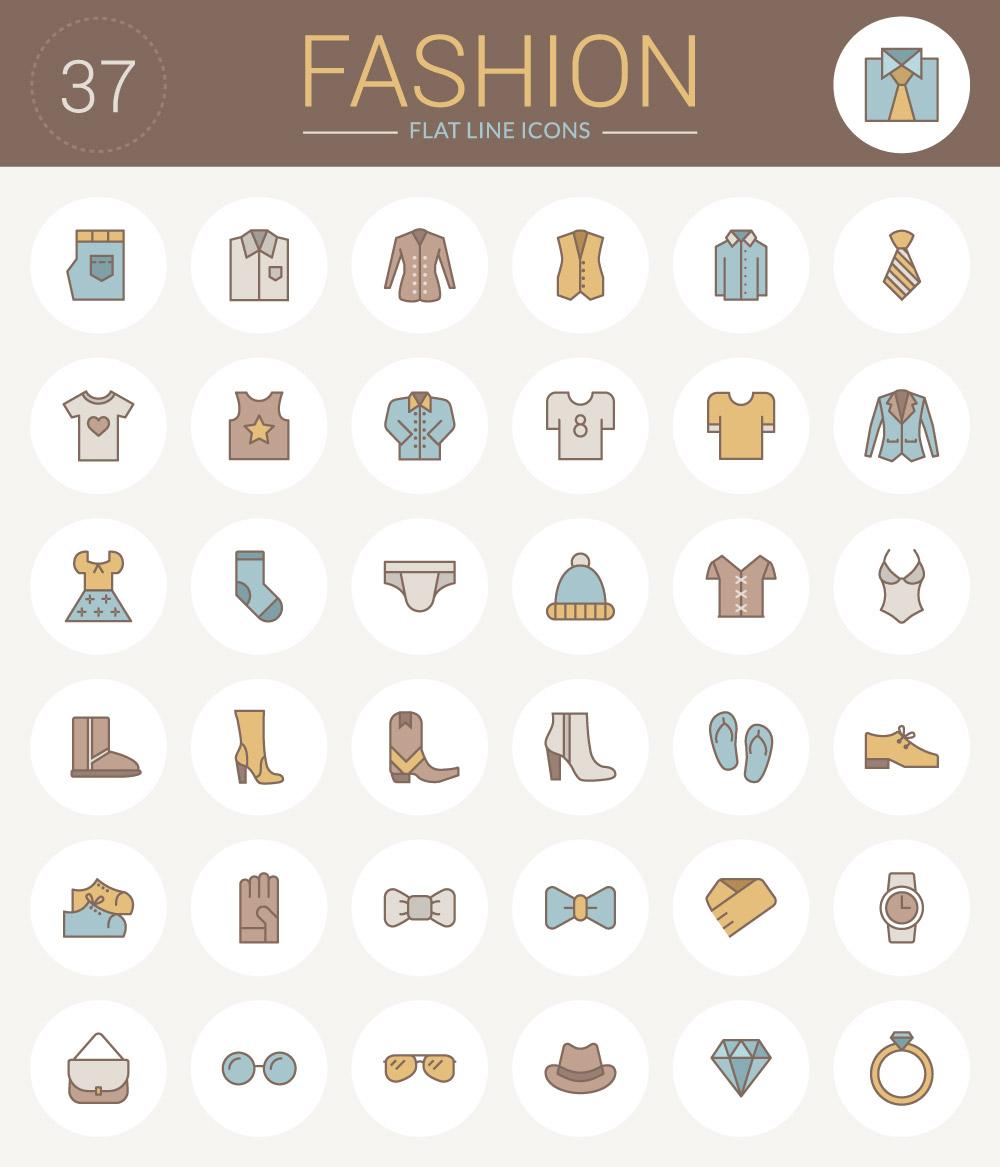 iconos-planos-vestimenta-indumentaria