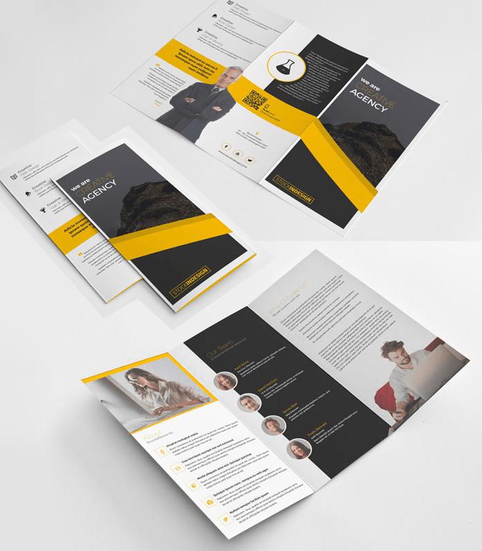 indesign folleto gratuito - Folleto tríptico para editar con InDesign Gratis