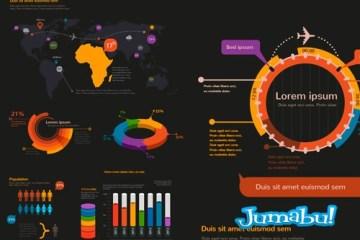infografia vectores photoshop - Infografías de Alto Contraste para Editar con Photoshop