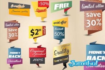 inserts elementos tags precios ofertas en vectores - Inserts o Contenedores de Precios y Ofertas en Vectores