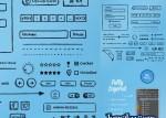 interface usuario dibujada a mano - Botones, Flechas, Iconos, Ribbons Dibujados a Mano