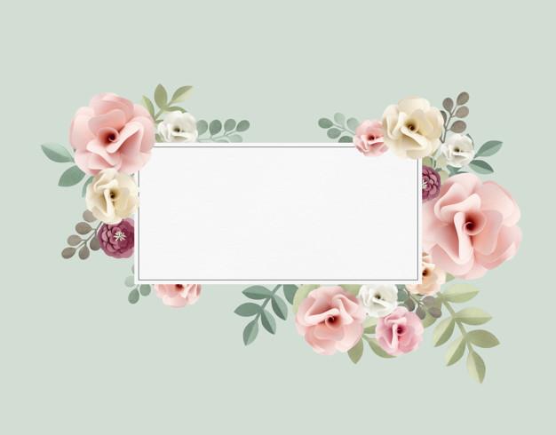 invitacion flores para casamiento gratis - Invitación con estilo floral para agregar tu contenido