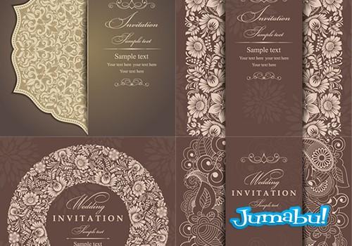 invitaciones bodas disenadas vectores1 - Invitación para Casamientos en Vectores