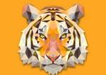 leon vectorizado - Cabeza de Tigre Vectorizado con Textura Poligonal