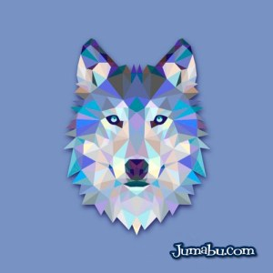 lobo wolf vectores - Lobo Vectorizado con Textura Poligonal