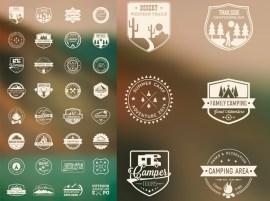 logos vintage vectoriales - Logos Vintage en Vectores