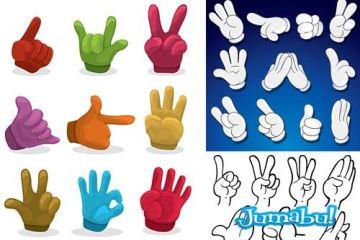 dedos vectorizados-señas