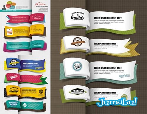 marcadores libros vectores ribbons - Ribbons en Vectores con Estilo Marcador de Libros