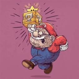 mario bros anciano - Caricaturas de superhéroes ancianos
