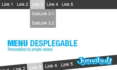 menu desplegable - Menú Desplegable para tu Sitio Web