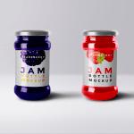 mermeladas frasco mockup - Mockup de frascos de mermelada para descargar gratis