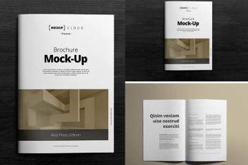 mock up brochure photoshop - Maqueta de un Brochure para editar en Photoshop