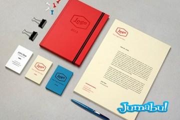 mock up identidad marca - Mock Up Coloca tu Logo en Carpeta, Tarjetas Personales, Hojas Membretadas