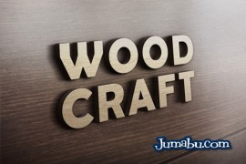 mock up logo pared madera - Mock Up de Corporeo con Logo de Madera
