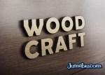 mock up logo pared madera - Mock Up de Corporeo con Logo de Madera