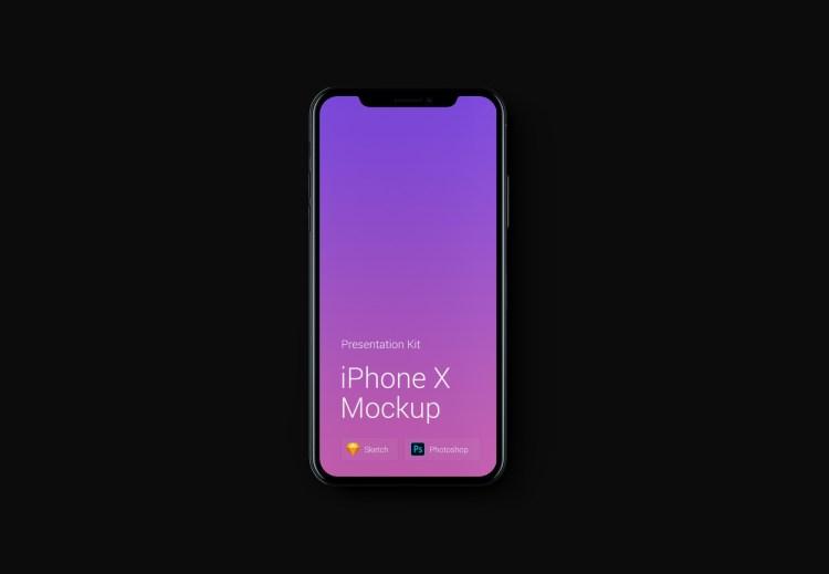 mockup iphone x 1024x709 - iPhone X Mockups en PSD para descargar