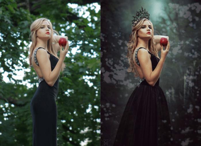 mujer con manzana antes y despues de photoshop - Mujeres, paisajes, niños, antes y después de aplicarle photoshop!