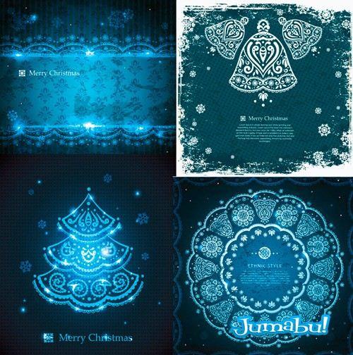 navidad-azul-recursos-vectoriales