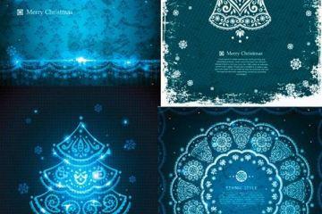 navidad azul recursos vectoriales - Recursos Vectoriales Navidades Azules