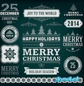 navidad vectores nuevos 2014 - Etiquetas Navideñas Vectorizadas 2014