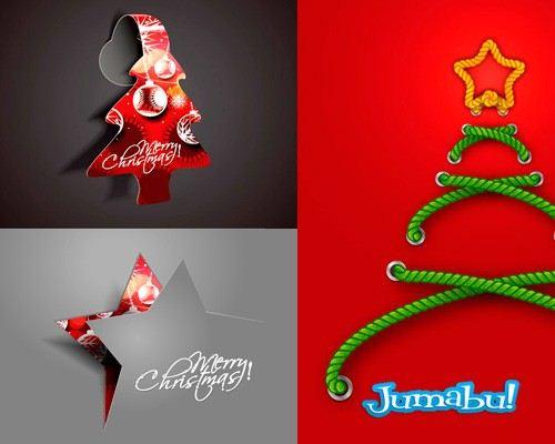 navidad vectores originales creativos - Vectores Navideños Estrellas y Pinitos