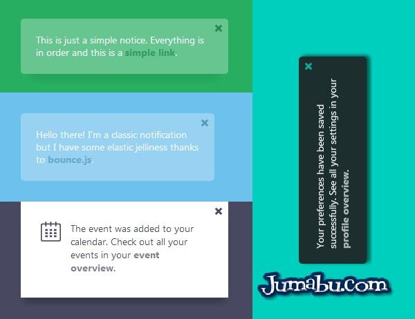 notificaciones html website design - Notificaciones Web con CSS y JS