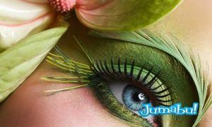 ojasos celestes maquillaje - Imágenes HD de Ojos Maquillados de Muchos Colores