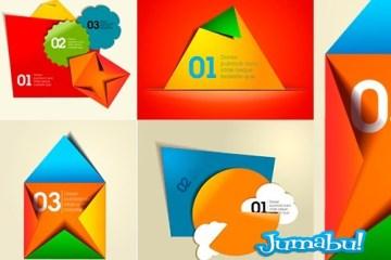 origami vectores sobres papel - Contenedores tipo Sobres de Papel Plegado Origami