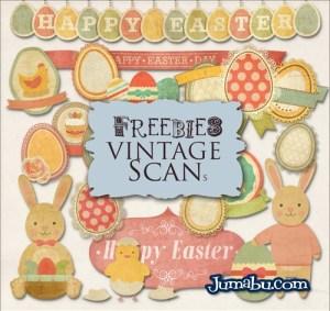 pascuas conejos vectores - Recursos Silueteados para las Pascuas