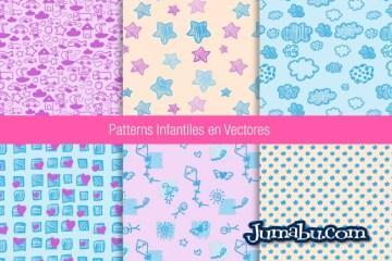 patterns vectores bebes - Patrones para Niños o Bebés en Vectores Gratuitos