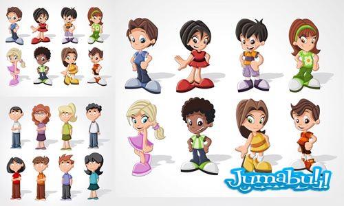 vectorizados-niños-cartoon