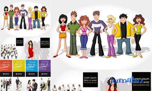 personas-grupo-dibujadas-caricaturas