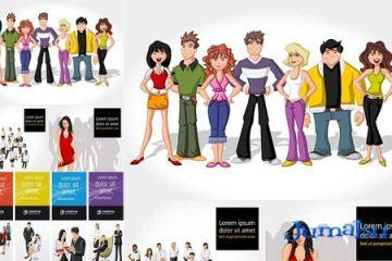 personas grupo dibujadas caricaturas - Grupo de Personas Dibujadas en vectores gratis