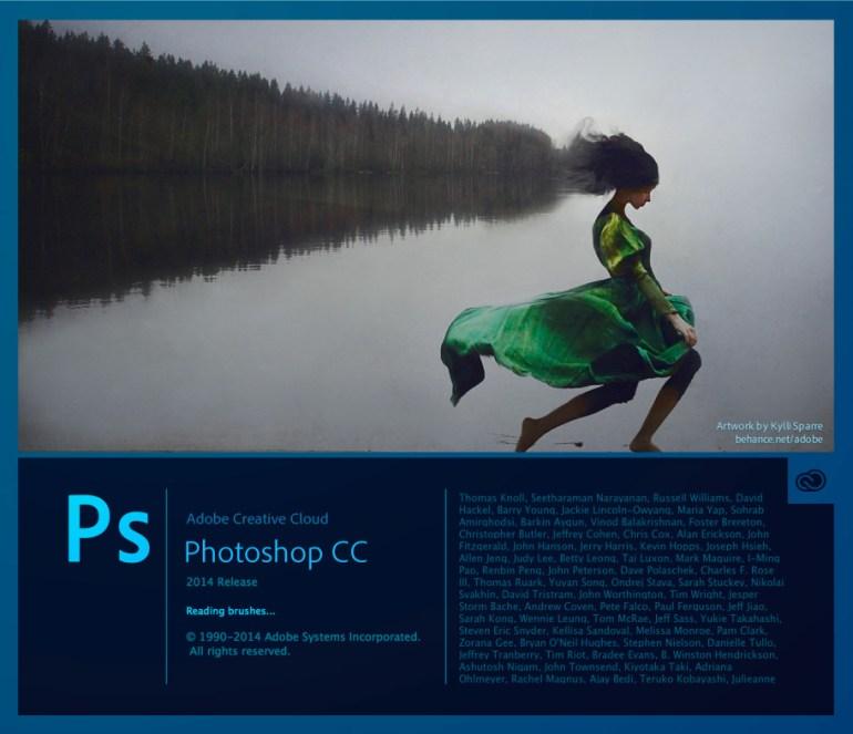 photoshop cc2014 pantalla - La evolución de Adobe Photoshop año tras año