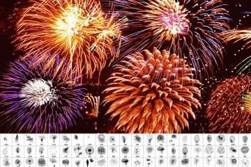 pinceles photoshop artificio fuegos - Pinceles de Fuegos Artificiales para usar con Photoshop